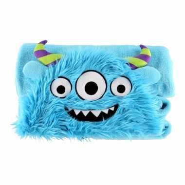 Blauwe monster fleecedeken cm kopen