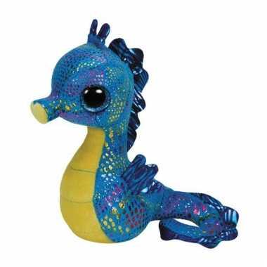 Blauwe Ty Beanie knuffel zeepaardjes kopen