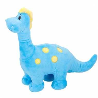 Brontosaurus pluche dino knuffel blauw kopen