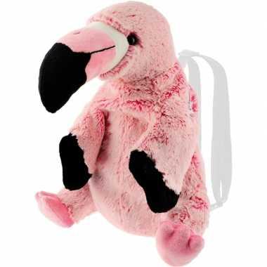 Bruine flamingo vogel rugzak/rugtas knuffels knuffeldieren kopen