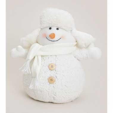 Decoratie sneeuwpop bontmuts kopen