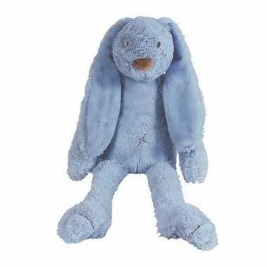 Denim blauw knuffel konijn richie kopen