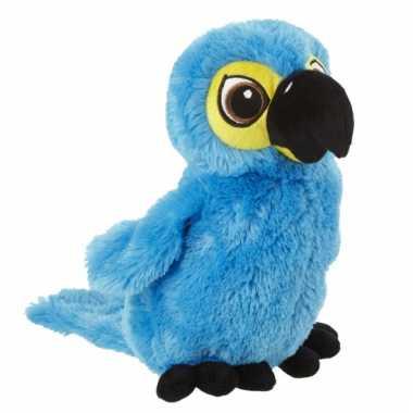 Fel blauwe papegaaien knuffel kopen