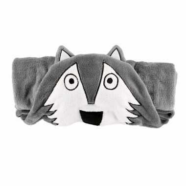 Grijse wolffleecedeken cm kopen