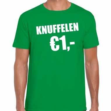 Groen knuffelen euro fun shirtje feest t shirt heren kopen