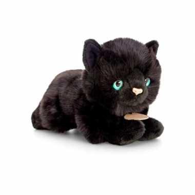Halloween zwarte katten/poezen knuffeldier kopen