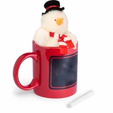 Kerst kadomok pluche sneeuwpop kopen