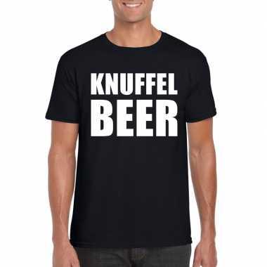 Knuffel beer fun t shirt zwart heren kopen