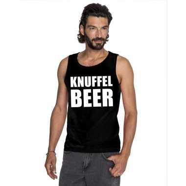 Knuffel beer mouwloos shirt zwart heren kopen