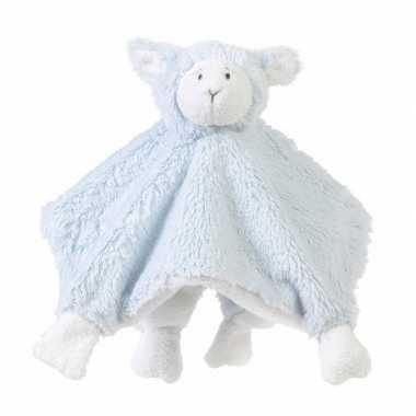 Knuffeldoek blauw lammetje kopen