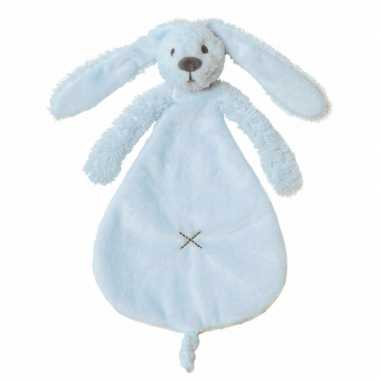 Knuffeldoekje konijn blauw kopen