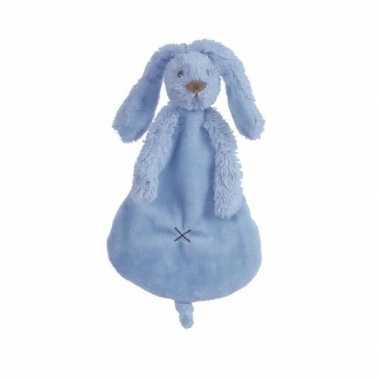 Knuffeldoekje konijn donkerblauw kopen