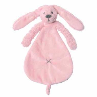 Knuffeldoekje roze konijntje kopen