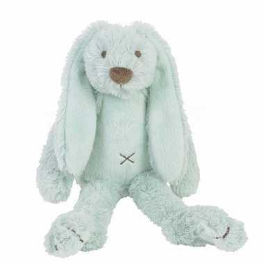 Kraamkado knuffel konijn richie mintgroen kopen