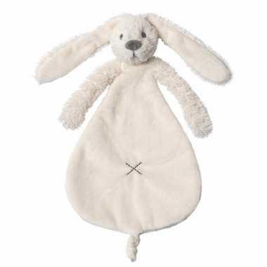 Kraamkado wit knuffeldoekje konijn kopen