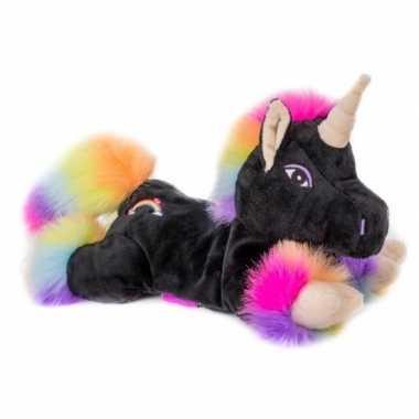 Magnetron knuffel zwarte unicorn kopen