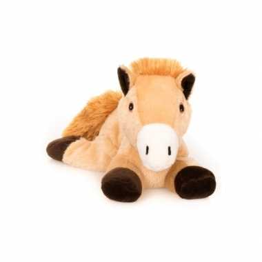 Opwarmbare knuffel bruin paard kopen