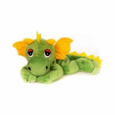 Opwarmbare knuffel groene draak kopen