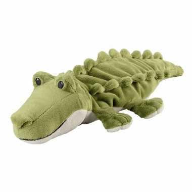 Opwarmbare knuffel krokodil groen kopen