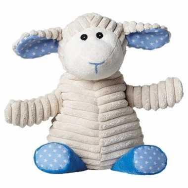 Opwarmbare knuffel schaap blauw kopen