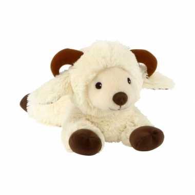 Opwarmbare knuffel schaap ram wit kopen