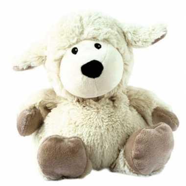 Opwarmbare knuffel schaap wit kopen