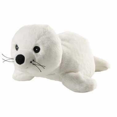 Opwarmbare knuffel zeehond wit kopen
