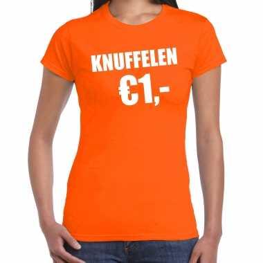 Oranje knuffelen euro shirtje koningsdag t shirt dames kopen