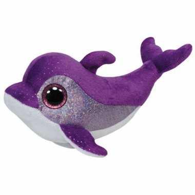 Paarse Ty Beanie dolfijn knuffels kopen