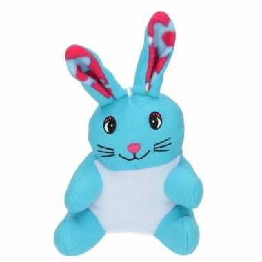 Paashaas knuffel blauw pluche kopen