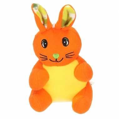 Paashaas knuffel oranje pluche kopen