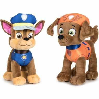 Paw patrol knuffels set karakters chase zuma kopen