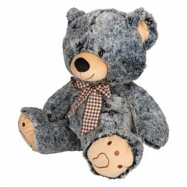 Pluche beer knuffeldier grijs/zwart kopen
