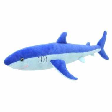Pluche blauwe haai knuffeldier kopen