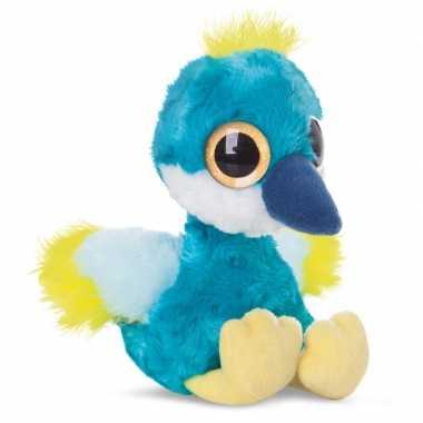 Pluche blauwe kraanvogel knuffeldier kopen