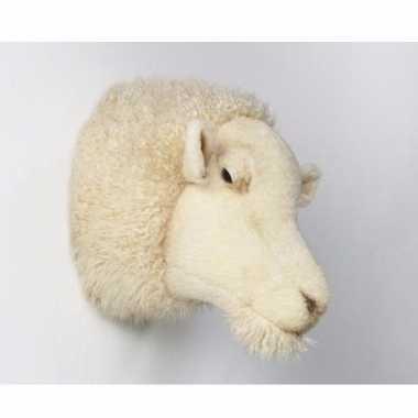 Pluche dierenkop schaap wit kopen