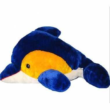 Pluche dolfijn geel blauw kopen