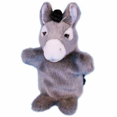 Pluche ezel handpoppen kopen