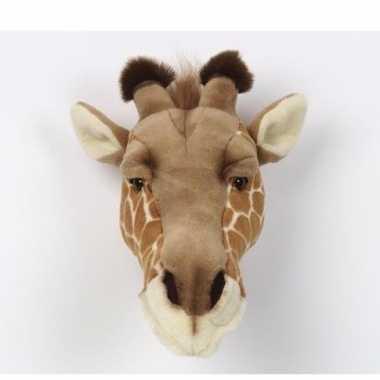 Pluche giraffenkop aan muur kopen