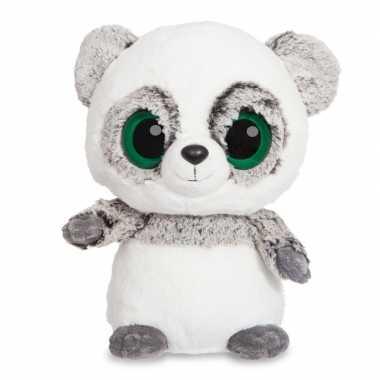 Pluche grijze panda knuffeldier kopen