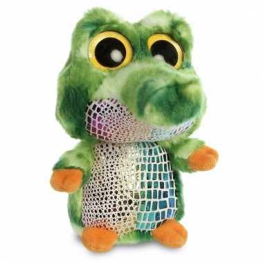 Pluche groene krokodillen knuffeldier kopen