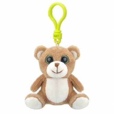 Pluche knuffel beer sleutelhanger kopen