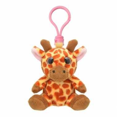 Pluche knuffel giraf sleutelhanger kopen