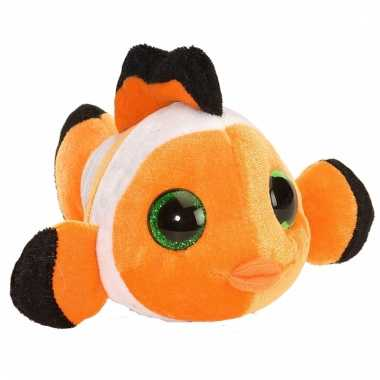 Pluche knuffel knuffeldier clownsvisje oranje kopen