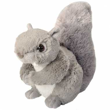 Pluche knuffel knuffeldier eekhoorn grijs kopen