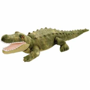 Pluche knuffel knuffeldier krokodil groen kopen