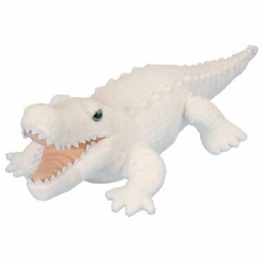 Pluche knuffel knuffeldier krokodil wit kopen