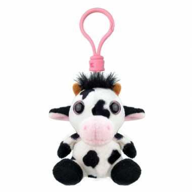 Pluche knuffel koe sleutelhanger kopen