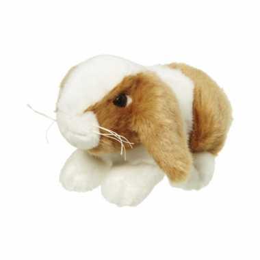 Pluche knuffel konijntje bruin/wit kopen