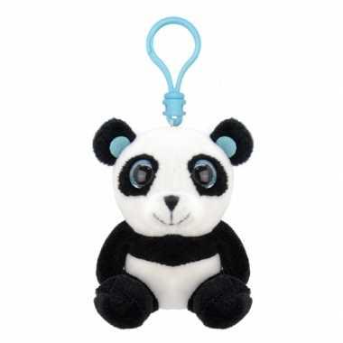 Pluche knuffel panda sleutelhanger kopen